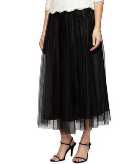 Tea-length Tulle Skirt