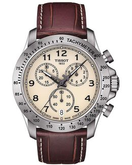 V8 Chronograph & Date Leather-strap Watch
