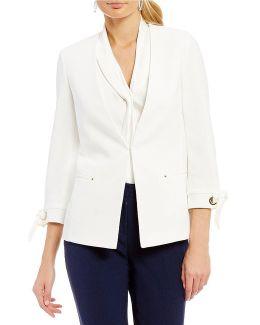 Grommet Tie-sleeve Jacket