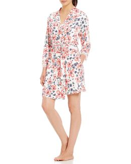 Pink Label Floral Wrap Robe