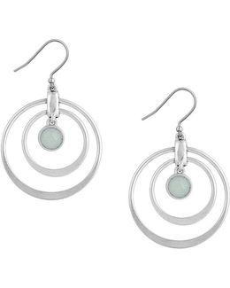 Jade Orbital Drop Earrings