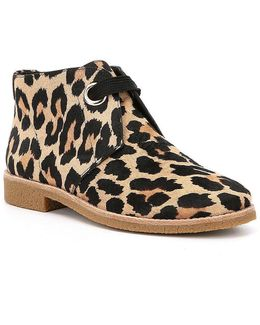 Barrow Leopard Print Calf Hair Booties