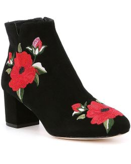 Langton Floral Embroiderd Booties