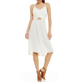 Good Resolution Cutout High-low-hem Dress