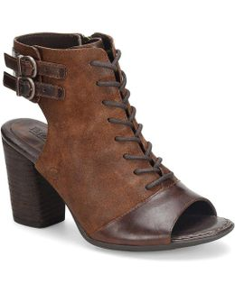 Blane Leather And Suede Booties