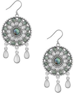Circle Drop Statement Earrings