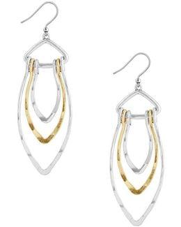 Hammered Petal Drop Earrings
