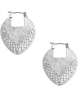 Openwork Disc Hoop Earrings