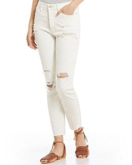 Jean Lacey Stilt Distressed Skinny Jeans