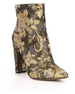 Teddi Floral Brocade Ankle Bootie