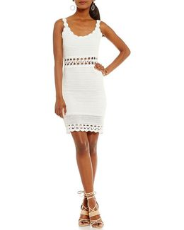 Cassidy Scalloped Hem Sheath Dress