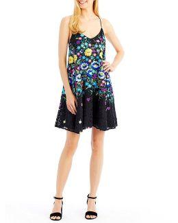 Floral Embroidered Slip Dress