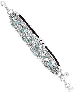 Mini Turquoise Stone Layer Line Bracelet