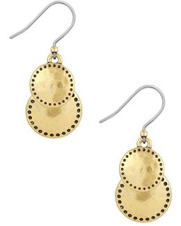 Goldtone Double Drop Earrings