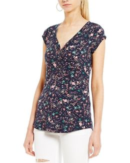 Floral Printed Gordon 2.0 Henley Top
