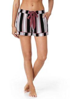 Woven Stripe-print Sleep Shorts