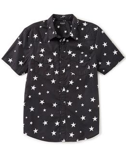 Short-sleeve Western Star Print Shirt