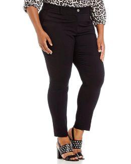 Plus Ponte Knit Miranda Slim-leg Ankle Pants