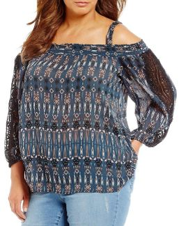 Plus Smocked Off The Shoulder Leticia Top