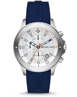Walsh Chronograph & Date Silicone-strap Watch