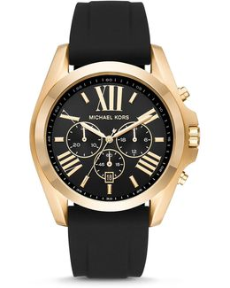 Bradshaw Gold-tone And Black Silicone Strap Chronograph Watch