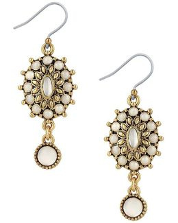 Squash Blossom Mother-of-pearl Drop Earrings