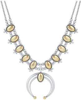 Squash Blossom Crystal Statement Necklace