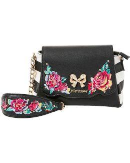 Belle Rose Floral-appliquéd Cross-body Bag