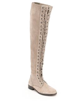 Tennessee Lace Up Over The Knee Boots