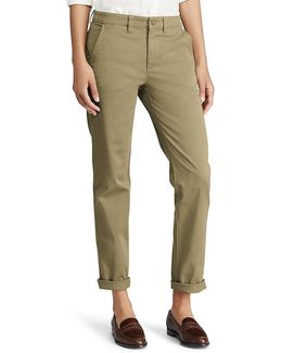 Stretch Cotton Straight Pant