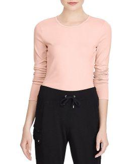 Long-sleeve Stretch Cotton T-shirt