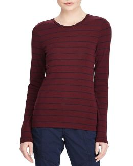 Striped Long-sleeve Cotton T-shirt
