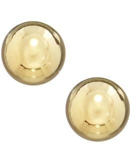 Goldtone Ball Stud Earrings