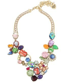 Statement Stone Cluster Necklace