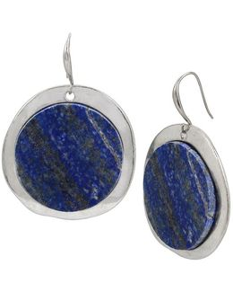 Semiprecious Lapis Drop Earrings