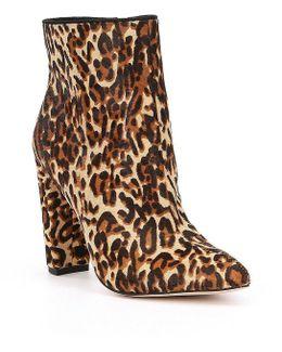 Teddi2 Leopard Calf Hair Booties