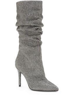 Layzer Rhinestone Slouch Boots
