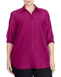 Plus Cotton-silk Voile Shirt