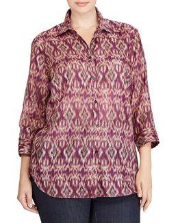 Plus Cotton-silk Voile Shirt