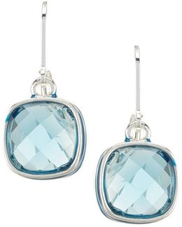 Blue Single Drop Earrings
