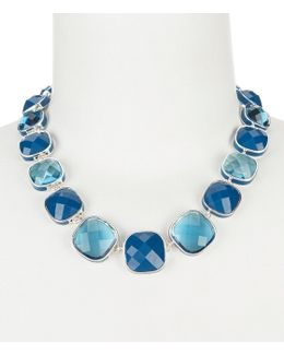Multi Blue Crystal Collar Necklace