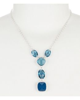 Multi Blue Cubic Zirconia Y-necklace