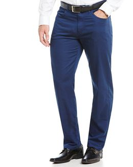 Classic-fit Oxford Weave 5-pocket Pants