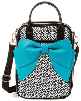 Bow Spot-print Insulated Lunch Tote