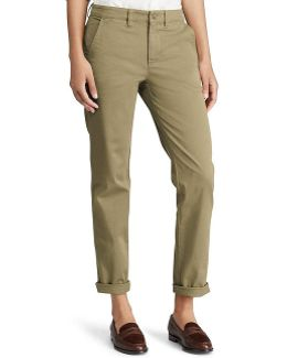 Petite Stretch Cotton Straight Pant