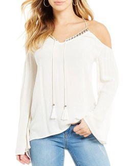 Elise Cold Shoulder Bell Sleeve Top