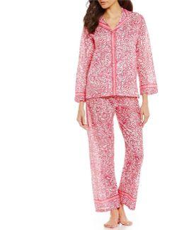 Pink Label Paisley-print Lawn Pajamas