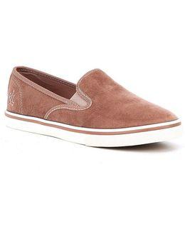 Janis Velvet Slip-on Sneakers