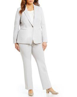 Plus Bi-stretch Pant Suit