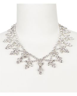 Faux-crystal Drama Collar Necklace